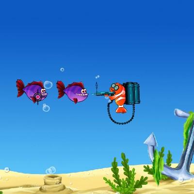Гра Атака: Стрілянина по рибах