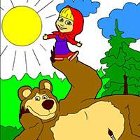 Гра Маша і Ведмідь на галявині