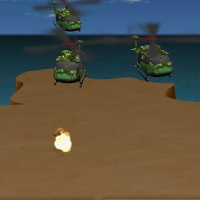 Гра Атака на острів: Зупини ворога