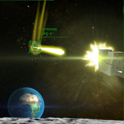Гра Атака астероїдів: Місячна Гармата