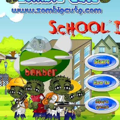 Гра Атака Школи: Захист від поганих зомбі