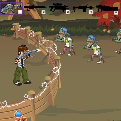 Гра Зомбі атакують зміцнення Бена 10