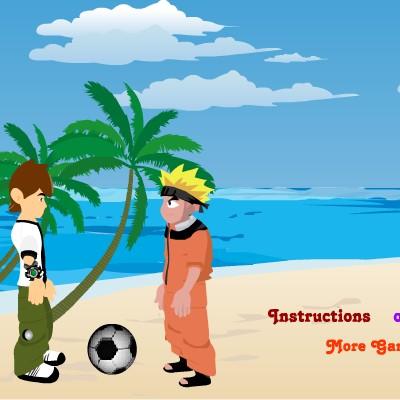 Гра Волейбол Головами: Наруто і Бен 10