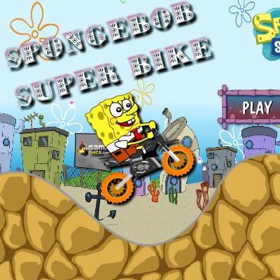 Гра для дітей: Спанч Боб Супер Велосипедист