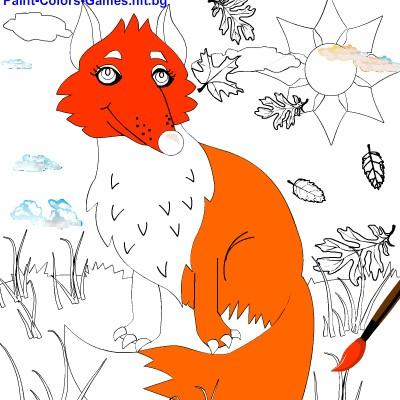 Гра для дітей: Розмальовка Лисеня