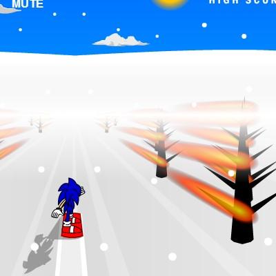 Гра для дітей: Соник 3д на сноуборді