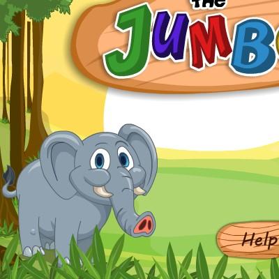 Гра для дітей: Нагодувати Слоника Джамбо