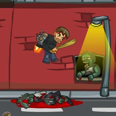Гра Літаючий джетпака проти Зомбі