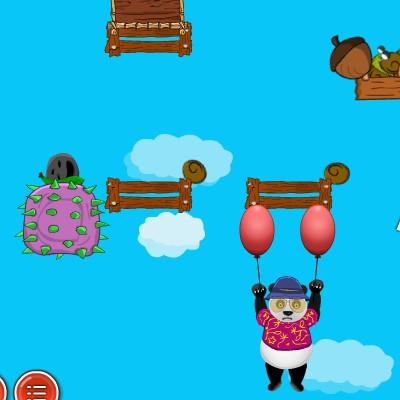 Гра повітряний політ панди на кульках