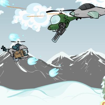 Гра леталка: Вертоліт проти літаків