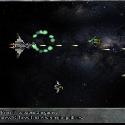 Гра Леталка у відкритому космосі на космічному перехватчике