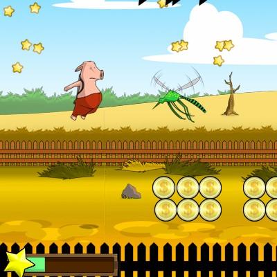 Гра Літаюча Свиня на Джетпаке