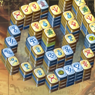 Гра Маджонг 3д піраміда