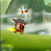 Гра Кунг Фу Панда в візку з салютами