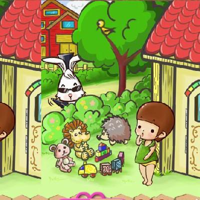 Гра Знайди Відмінності: Сінді і Містером Кроликом