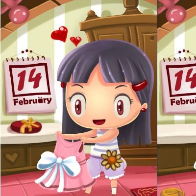 Гра Знайди Відмінності 2: День Валентина