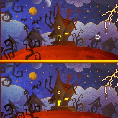 Гра Знайди Відмінності: Хеллоуїн