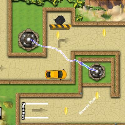 Гра Парковка з перешкодами: Стріляючі Вежі