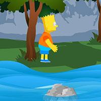 Гра Сімпсони стрибають по камінню