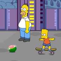 Гра Сімпсони катаються на скейті