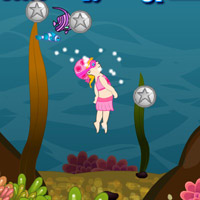 Гра плавання під водою: Нирець і Акули
