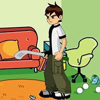 Гра Бен 10 грає в гольф