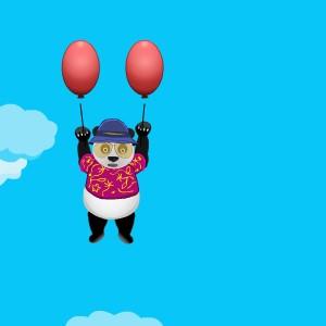 Гра Панда на Повітряних Кульках