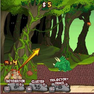 Гра Боротьба Древнього Людини з Динозаврами