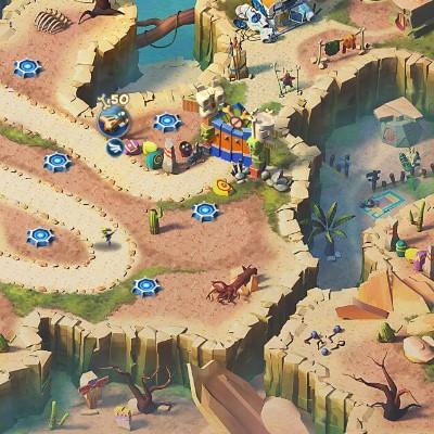 Гра Захист Бази від Динозаврів