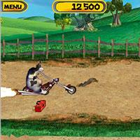 Гра Супер корова на мотоциклі