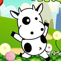 Гра Супер корова ухиляється від бомб