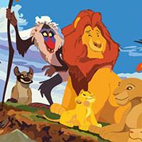 Гра Великий пазл Король лев