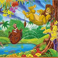 Гра Король лев: Стрибок у озеро