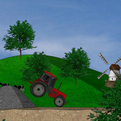 Гра Гонка на Тракторі: Небезпечна Траса